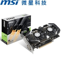 MSI微星 GeForce GTX 1050 Ti 4GT OCV1 (飆風雙風扇) 顯示卡
