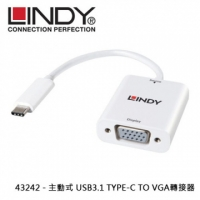 LINDY 43242 - 主動式 USB3.1 TYPE-C TO VGA轉接器