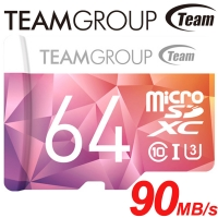 【Team 十銓】64GB 90MB/s microSDXC TF U3 C10 記憶卡