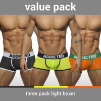 【2016SS】【現貨】ADDICTED AD403P 超強三入螢光款四角內褲 AD403P - 3 PACK LIGHT BOXER