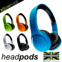 【風雅小舖】【BOOMPODS headpods 摺疊耳罩式iPhone線控耳機】iPhone5S / iPad Air /ipod touch 都可用