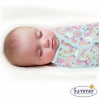 【onemore】代購 正品Summer Infant swaddle me懶人包巾 純棉款,單入 S號適用0-3個月共7款(彩蝶)