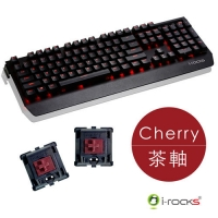 【迪特軍3C】i-Rocks IRK60M cherry 茶軸 全背光鋁合金機械式電競鍵盤(紅光) 2年保固