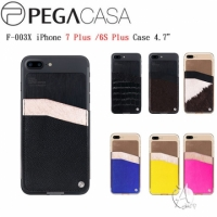 【A Shop】PEGACASA F-003X iPhone 8 Plus / 7 Plus / 6S Plus Slim Fit 真皮手機背夾-7款