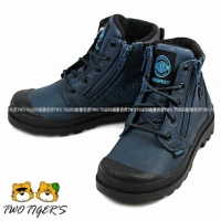 【PALLADIUM】新竹兩隻老虎童鞋 PAMPA HI CUFF WP Waterproof 深藍色  防水短童靴 NO.R2237(53476-426)