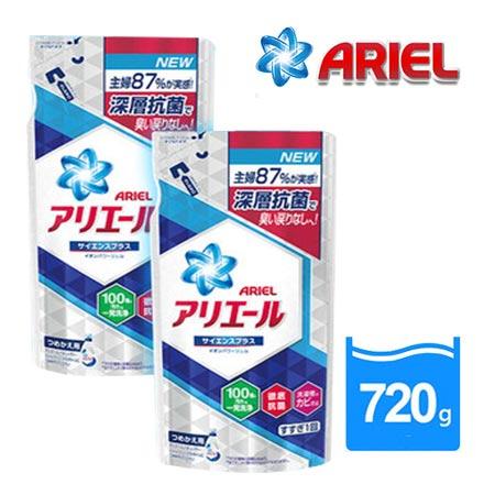 【贈110點 Ariel】抗菌洗衣精720g*12